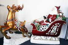 SANTA SLEIGH AND 2 REINDEER SET - NO LIGHTS