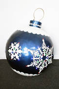 BLUE.WHITE WALL BAUBLE WITH LED'S