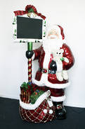 132CMH SANTA WITH BAG AND CHALKBOARD