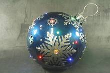 BLUE BALL WITH LED LIGHTS
