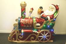 SANTA IN THE TRAIN WITH LED LIGHTS