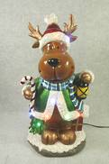REINDEER WITH LANTERN DECOR LED LIGHTS