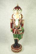 NUTCRACKER WITH STOCKING DECOR WITH LED LIGHTS