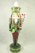 NUTCRACKER WITH STAFF DECOR WITH LED LIGHTS