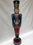 LIFELIKE BLUE AND RED NUTCRACKER