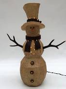 SNOWMAN DECORATION WITH LED