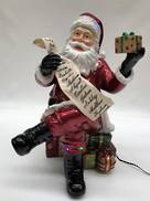 SANTA  HOLDING PRESENT LIST WITH LED LIGHT