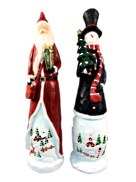 SET2, 46CMH STANDING SNOWMAN AND SANTA