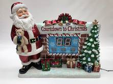 SANTA COUNTDOWN WITH FIREPLACE