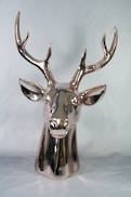 LARGE ROSE GOLD DEER HEAD