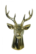 LARGE GLOSS GOLD DEER HEAD