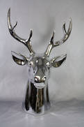 LARGE CHROME DEER HEAD