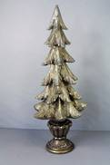 49CMH CHRISTMAS TREE WITH BASE ,DARK GOLD,