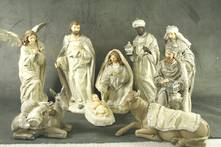 SET 9 WHITE/SILVER NATIVITY