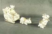 WHITE /GOLD MOUSE SLEIGH