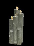 44.5CMH GREY RESIN LED CANDLE BLOCK
