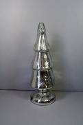 MEDIUM SILVER GLASS XMAS TREE