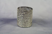 8CMH ANTIQUE SILVER MOTTLED CANDLE HOLDER