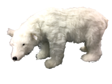 ANIMATED MUSIC FEMALE POLAR BEAR W/HEAD MOVING