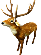 ANIMATED MUSIC STANDING DEER W/HEAD MOVING/DOTTED