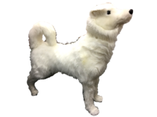 ANIMATED MUSIC STANDING HUSKY W/HEAD MOVING/WHITE