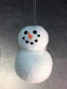 2 BALL SNOWMAN HANGING ORNAMENT.