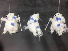 SET 3 SKIING BEARS