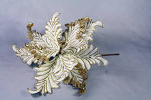 CREAM/GOLD VELVET ACANTHUS FLOWER