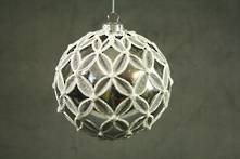 SILVER  PLASTIC HANGING BALL