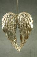 SILVER/CHAMPAGNE ANGEL WINGS