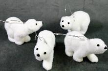 SET4 FLOCKED POLAR BEARS