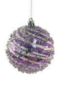 8CMD FROSTED PURPLE/WHITE  BALL HANGER