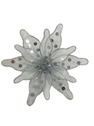 20CMD CLEAR / SILVER FLOWER