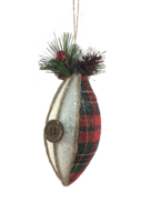 8CMD FABRIC TARTAN FINIAL
