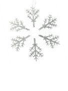 25CMD CLEAR/SILVER ACRYLIC SNOWFLAKE
