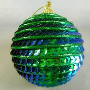 PEACOCK SEQUIN BALL-