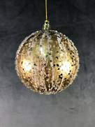 10CMD GOLD DRIZZLED BALL HANGER