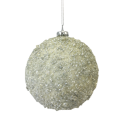 10CMD WHITE BEADED BALL HANGER