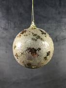 10CMD CHAMPAGNE GOLD LEAF BALL HANGER