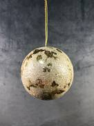 8CMD CHAMPAGNE GOLD LEAF BALL HANGER