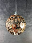 CHAMPAGNE OVAL SEQUIN BALL HANGER