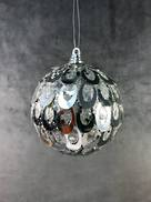 SILVER OVAL SEQUIN BALL HANGER (6)