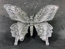 SILVER BUTTERFLY WITH CLIP