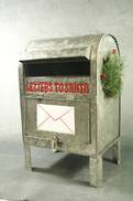 GALVANISED LETTERS TO SANTA MAILBOX