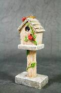 RUSTIC BIRD HOUSE HANGER
