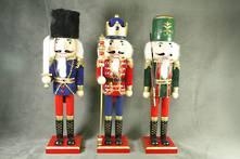 SET3, 40CMH VELVET NUTCRACKERS