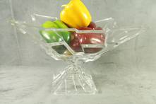 20CMH FACETED GLASS SQUARE FRUIT BOWL