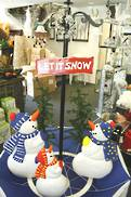 BLUE SNOWING UMBRELLA WITH SNOWMEN LIGHTS AND MUSIC