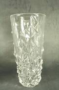 25CMH GLASS VASE WITH CUBE DECORATION