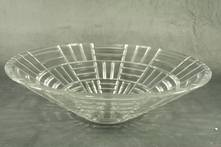 SQUARE LINED GLASS BOWL